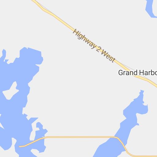 Detailed Map #2 - West Bay North Area of Devils Lake North Dakota