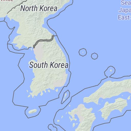 North Korea/South Korea, The Forgotten War Political Map ...