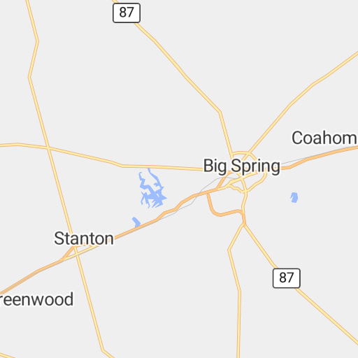 Map Of Texas Midland.Highway Map Of Midland And Odessa Texas Avenza Systems Inc